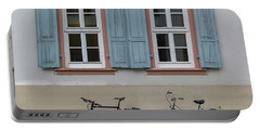 Blue Shutters And Bicycles Portable Battery Charger
