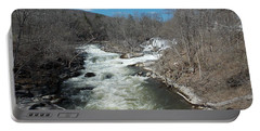 Blue Skies Over The Housatonic River Portable Battery Charger