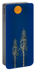 Portable Battery Charger featuring the painting Blue Sky by David Dehner