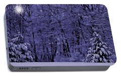 Portable Battery Charger featuring the photograph Blue Snow by David Dehner