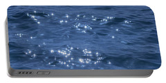 Blue Sparkling Water Portable Battery Charger by RKAB Works