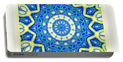 Portable Battery Charger featuring the photograph Blue Spin by Shirley Moravec