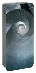Portable Battery Charger featuring the photograph Blue Spiral Stairs by Jaroslaw Blaminsky