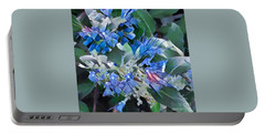 Blue Splash - Flowers Of Spring Portable Battery Charger by Miriam Danar