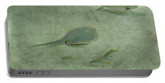 Portable Battery Charger featuring the photograph Blue Spotted Ray And Friends by Carol Lynn Coronios