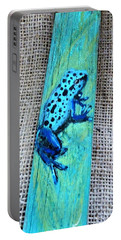 Blue-spotted Tree Frog Portable Battery Charger by Ann Michelle Swadener