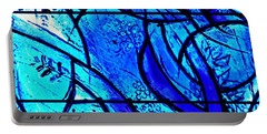 Blue Stained Glass Detail 1  Portable Battery Charger