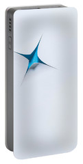 Blue Star On White Portable Battery Charger