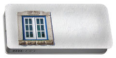 Blue Stone Window Of Obidos Portable Battery Charger