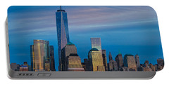 Blue Sunset At The World Trade Center Portable Battery Charger