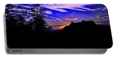 Portable Battery Charger featuring the photograph Blue Sunset In Poland by Mariola Bitner