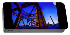 Portable Battery Charger featuring the photograph Blue Sunset- by JD Mims