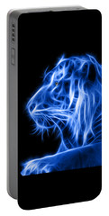Portable Battery Charger featuring the photograph Blue Tiger by Shane Bechler