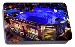 Portable Battery Charger featuring the photograph Blue Tiger Stadium by Andy Crawford
