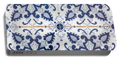 Blue Tile Of Portugal Portable Battery Charger