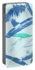 Blue Toned Artistic Feather Abstract Portable Battery Charger