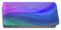 Portable Battery Charger featuring the digital art Blue Valley by Gina Harrison
