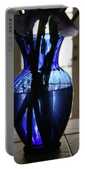 Blue Vase Portable Battery Charger