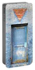 Blue Wall Blue Door Portable Battery Charger by Denise Beverly