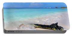 Blue Water And White Sand Portable Battery Charger