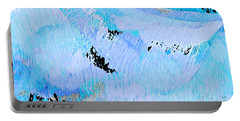Blue Water Wet Sand Portable Battery Charger by Stephanie Grant