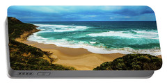 Portable Battery Charger featuring the photograph Blue Wave Beach by Perry Webster