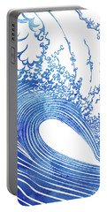 Waves Mixed Media Portable Battery Chargers