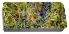 Portable Battery Charger featuring the photograph Blue Weed by Ann E Robson