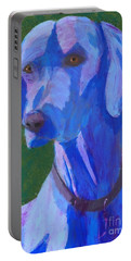 Blue Weimaraner Portable Battery Charger by Donald J Ryker III
