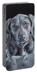 Blue Weimaraner Portable Battery Charger