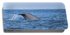 Portable Battery Charger featuring the photograph Blue Whale Tail Flop by Suzanne Luft