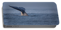 Portable Battery Charger featuring the photograph Blue Whale Tail by Suzanne Luft