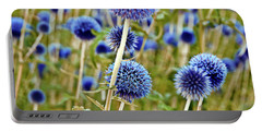 Blue Wild Thistle Portable Battery Charger