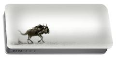 Blue Wildebeest In Desert Portable Battery Charger
