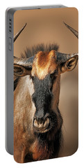 Blue Wildebeest Portrait Portable Battery Charger