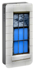 Blue Window Panes Portable Battery Charger