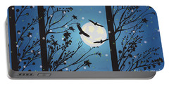 Blue Winter Moon Portable Battery Charger by Kim Prowse