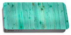 Blue Wooden Planks Portable Battery Charger by John Williams