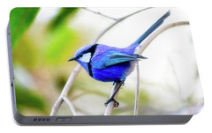 Portable Battery Charger featuring the photograph Blue Wren, Margaret River by Dave Catley