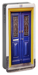 Blue Yellow Door Portable Battery Charger