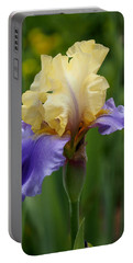 Blue Yellow Iris Germanica Portable Battery Charger