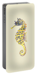 Blue Yellow Seahorse - Square Portable Battery Charger