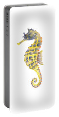 Blue Yellow Seahorse - Vertical Portable Battery Charger