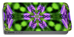 Bluebell Kaleidoscope Portable Battery Charger by Aliceann Carlton