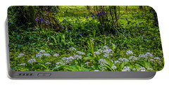 Bluebells And Wild Garlic At Coole Park Portable Battery Charger