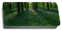 Bluebells In Oxey Woods Portable Battery Charger