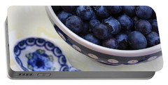 Blueberries And Spoon  Portable Battery Charger