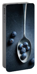 Blueberries On Spoon Still Life Portable Battery Charger
