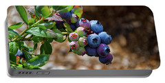 Blueberries Out On A Limb Portable Battery Charger