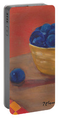 Blueberries Yellow Bowl Portable Battery Charger
